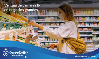 Ventaja de cámaras IP en negocios grandes