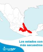 LOS ESTADOS CON MÁS SECUESTROS